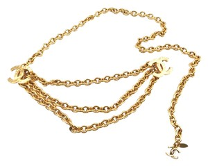 Chanel Chanel 24K Gold Plated Multi CC Dangle Chunky Chain Belt / Necklace