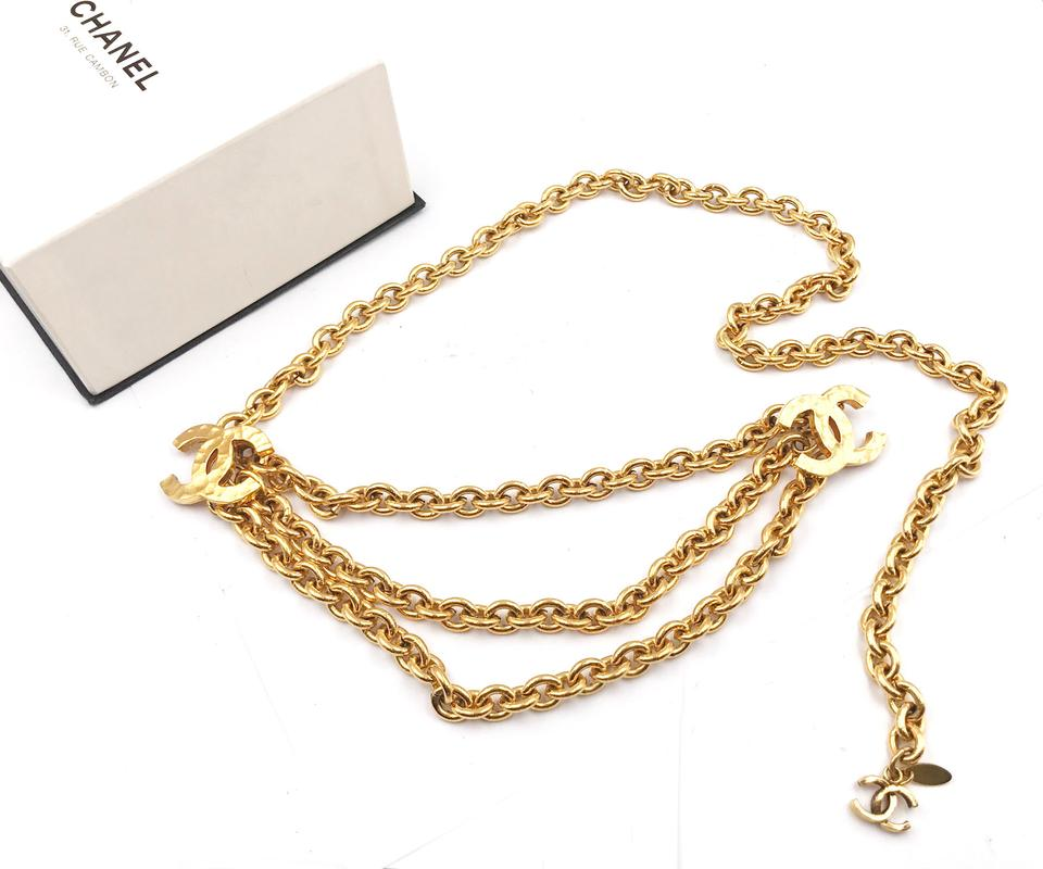 5219ca8269c3 Chanel Chanel 24K Gold Plated Multi CC Dangle Chunky Chain Belt / Necklace  Image 5. 123456