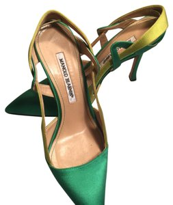 Manolo Blahnik green and light yellowgreen Pumps