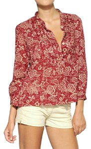Isabel Marant Paisley Summer Cotton Top Red