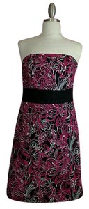 Ann Taylor LOFT short dress Pink Black White on Tradesy