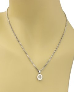 Chopard Chopard Happy Diamonds Oval Pendant 18k White Gold Necklace
