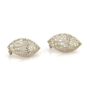 BUCCELLATI Filidoro Sterling Silver Open Filigree Earrings