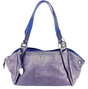 Franco Sarto Pebbled Leather Silver Hardware Distressed Shoulder Bag
