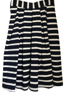 Marabelle Midi Striped Skirt Navy & White
