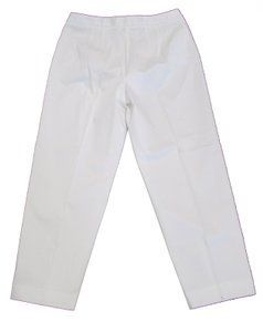 Talbots Leg Stretch Casual Straight Pants White