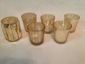 Small Gold Votive Candle Holders