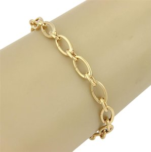 Tiffany & Co. Tiffany & Co. Oval Clasping Link Bracelet in 18k Yellow Gold 7.25