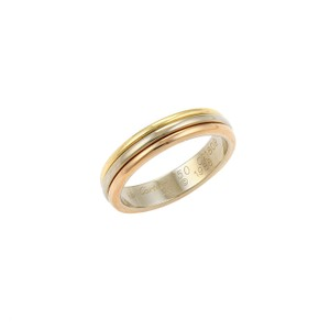 Cartier Cartier 18k Tri-Color Gold 3 Rows Design 4mm Wide Band Ring