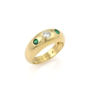 Cartier Cartier Daphne Diamond & Emerald 18k Yellow Gold Ring