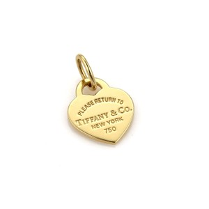 Tiffany & Co. Tiffany & Co. Please Return to Tiffany 18k Yellow Gold Charm