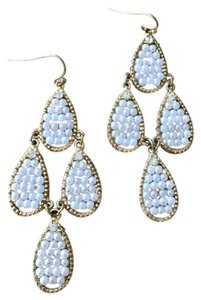 Anthropologie Pearl and Crystal Statement Chandelier Earrings