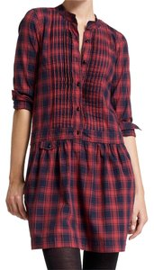 J.Crew short dress Red, navy on Tradesy
