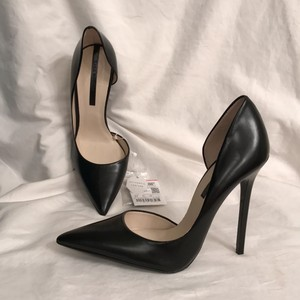 Zara New Leather Formal Sexy Women Black Pumps