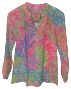 Lilly Pulitzer Top Pink Green BLue