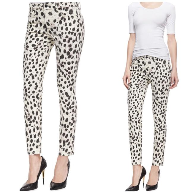 Item - Off White / Cream / Black / Taupe Ankle Skinny Jeans Size 26 (2, XS)