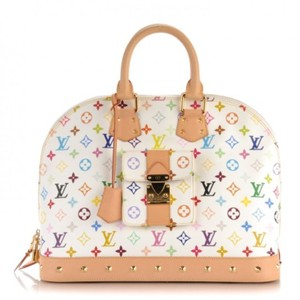 Louis Vuitton Alma Multicolor Canvas Gm Tote in Multi-Color White