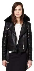 The Arrivals Leather Italian Removable Collar New Fur Leather Jacket