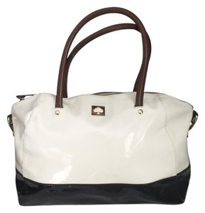 Kate Spade & Laptop Satchel in Black & White