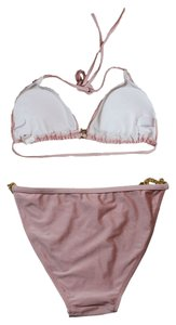Other FREE SHIPPING New's Champagne Hardware Push-up Top Low Rise Panty Bikini Set Item No. : LC40672-7