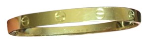 Cartier Cartier 18k Yellow Gold Love Bracelet Sz 19 YC7693