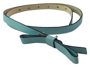 Kate Spade Tiffany Blue Bow Skinny Belt