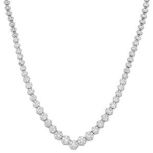 Other 3 ct Diamond Graduated Strand Necklace