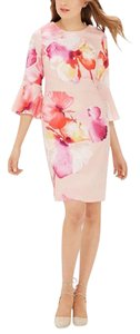 The Limited Floral Bell Sleeves Sheath Dress