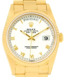 Rolex Rolex President Day-Date 18k Yellow Gold Mens Watch 18238 Box Papers
