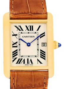 Cartier Cartier Tank Louis 18k Yellow Gold Watch W1529756 Box Papers
