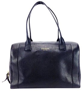 Kate Spade Doctor Bowling Pebbled Leather Satchel in Black