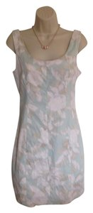H&M short dress Mint Green, Pink & White H & M Zip Back Print on Tradesy
