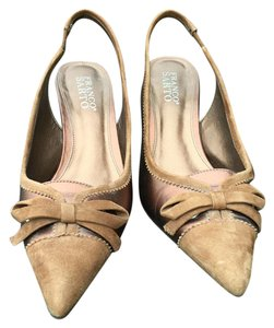 Franco Sarto Brown Camel and bronze Pumps