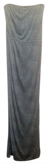 Item - Green White Blue Strapless Long Casual Maxi Dress Size 6 (S)
