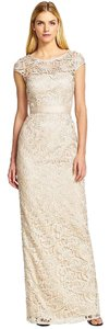 Adrianna Papell Lace Gown Cap Sleeve Evening Bridesmaid Dress