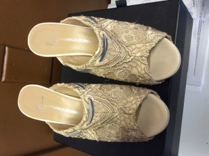 Donald J. Pliner Lace GOLDEN Mules