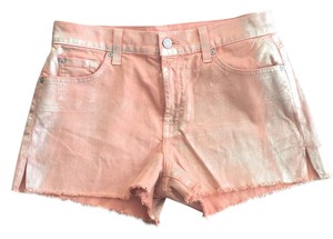7 For All Mankind Cut Off Shorts Peach/Gold