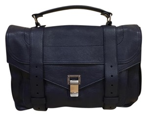 Proenza Schouler Satchel in indigo with silver