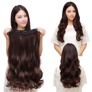 Dark Brown Wavy Clip In Hair Extension Full Head Free Shipping