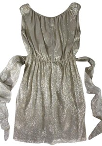 Marc Jacobs Shimmery Metallic Belted Dress