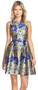 Adrianna Papell Fitted Sheath Evening Sleeveless Floral Dress