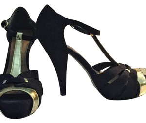 Madden Girl black, gold Platforms