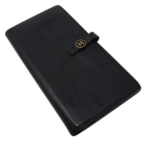Chanel CHANEL LEATHER LONG WALLET