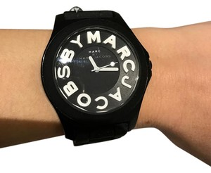 Marc by Marc Jacobs Black Silicone & Stainless Steel Watch