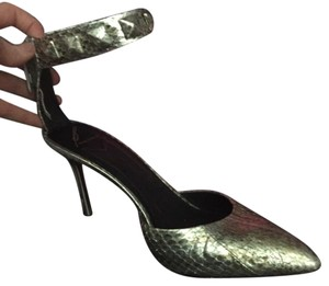 B Brian Atwood Silver Pumps