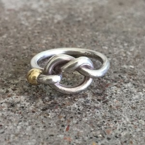 Tiffany & Co. 18K Gold/Silver Love Knot Ring