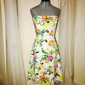 Spenser Jeremy short dress White pink yellow on Tradesy