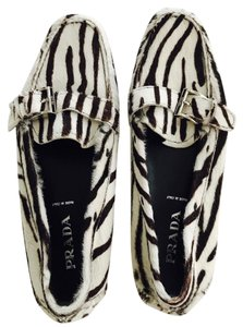 Prada Black and white Flats