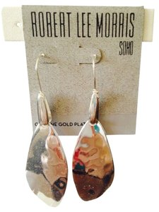 Robert Lee Morris Soho Silver-Tone Sculptural Drop Earrings