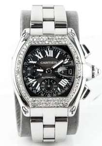 Cartier * Cartier Roadster Ref. 2618 Automatic Chronograph Diamond Watch